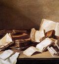 Heem de Jan Davidsz Still life with books Sun