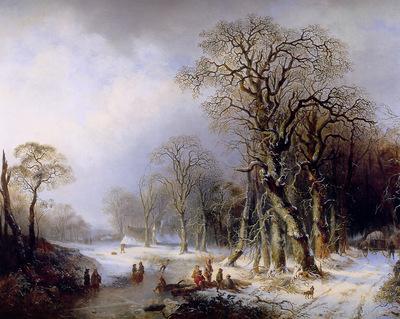 Hendriks Frederik Winterlandscape Sun