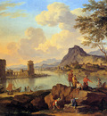 Heusch de Jacob Italian river view Sun