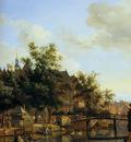 Heyden van der Jan View Oudezijds Voorburgwal Sun