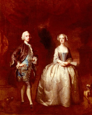 Highmore Joseph Portrait Of A Lady And Gentleman
