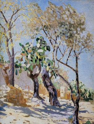 Himona Nikolai Landscape with cactuses Sun