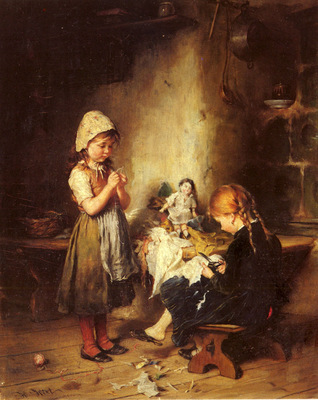 Hirt Heinrich The Young Seamstresses
