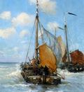 Hitchcok George Ships at the coast of Egmond Sun