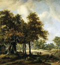 Hobbema Meindert Forestlandscape Sun