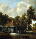 Hobbema Meindert Watermill Sun