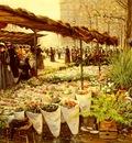 Hoermann Theodore von Marche Aux Fleurs A La Madeleine