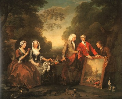 Hogarth The Fountaine Family, 1730, oil on canvas, Philadelp