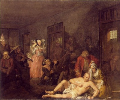 Hogarth The rakes progress The rake in Bedlam, 1735, 62 5x