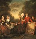 Hogarth The Fountaine Family, 1730, oil on canvas, Philadelp