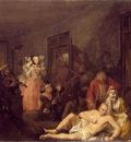 Hogarth The rakes progress The rake in Bedlam, 1735, 62 5x