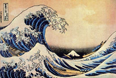 hokusai great wave off kanagawa early 1830s