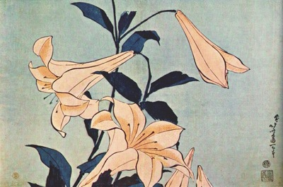 hokusai lilies