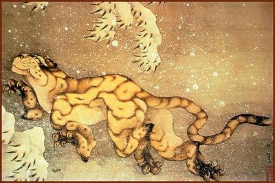 lrsHokusaiKatsushika Tiger woodblock1840