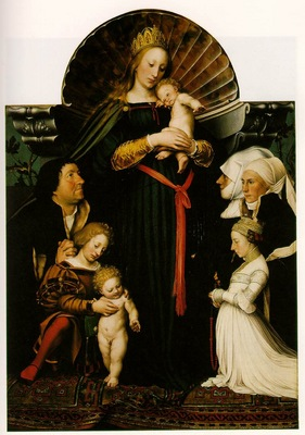 HOLBEIN THE VIRGIN AND CHILD WITH THE FAMILY OF BURGOMASTER