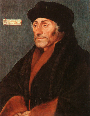 Holbein Erasmus of Rotterdam, oil on wood, Metropolitan Muse