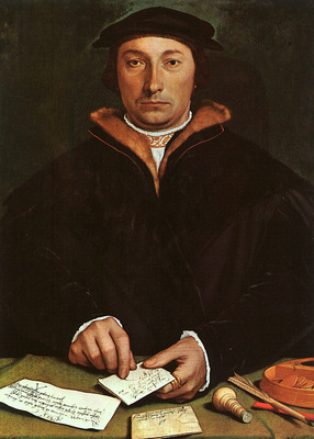 Holbein Portrait of Dirck Tybis, 1533, oil on panel, Art His