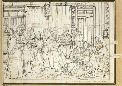 Holbien the Younger Study for the Family Portrait of Sir Thomas More