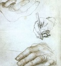 Holbien the Younger Studies of the Hands of Erasmus of Rotterdam