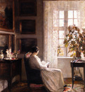 Carl Holose Reading in the Morning Light