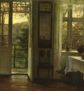 Holsoe Carl Vilhelm Danish 1863 to 1935 At The Window O C 82 by 90 1 cm