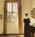 Holsoe Carl Vilhelm Danish 1863 to 1935 Woman In Interior O C 79 4 by 58 6cm