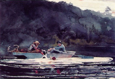 homer the end of the hunt, 1892, watercolor and graphite,