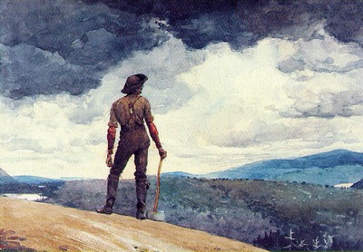 Homer The woodcutter, 1891, Watercolor over graphite, 34 9x5