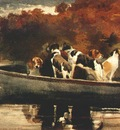 homer dogs in a boat