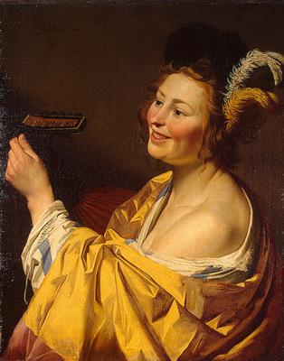 Honthorst, Gerrit van The lute player, 1624, 84x66 5 cm, Ere