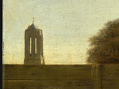 HOOCH,DE A DUTCH COURTYARD, 1658 1660, DETALJ 1, NGW