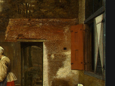 HOOCH,DE A DUTCH COURTYARD, 1658 1660, DETALJ 5, NGW