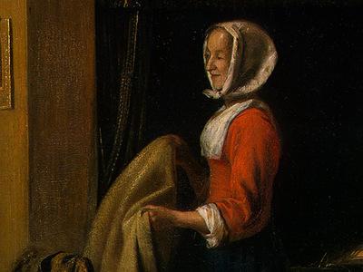 HOOCH,DE THE BEDROOM, 1658 1660, DETALJ 2, NGW