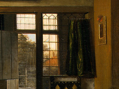 HOOCH,DE THE BEDROOM, 1658 1660, DETALJ 3, NGW