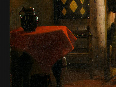 HOOCH,DE THE BEDROOM, 1658 1660, DETALJ 6, NGW