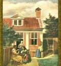 PO Vp S1 53 Pieter De Hooch Devant la maison