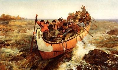 Hopkins, Frances Anne Shooting the Rapids end