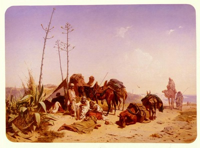 Horschelt Theodore Mittagruhe In Algier
