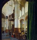 Houckgeest Gerrit Oude Kerk in Delft Sun