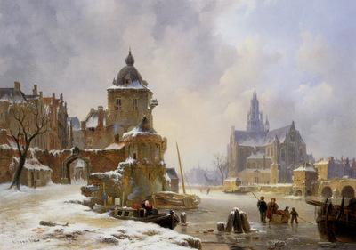 Hove van Bartholomeus Winter landscape Sun