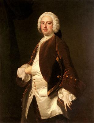 Hudson Thomas Portrait Of A Gentleman