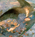 Ang20011 Night With Her Train of Stars Edward Robert Hughes sqs