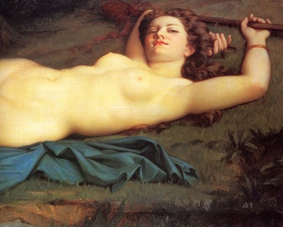 Hugrel, Pierre Honore Bacchante detail end