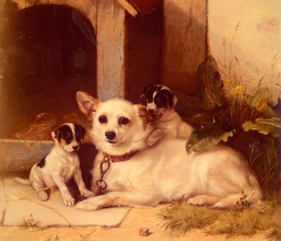 Hunt Walter Mother And Puppies
