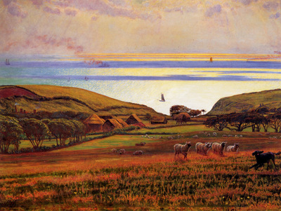 Hunt William Holman Fairlight Downs Sunlight on the Sea