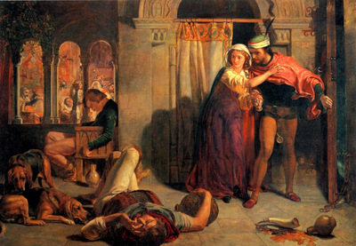 Hunt William Holman The flight of Madeline and Porphyro during the Drunkenness attending the Reve