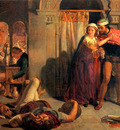 Hunt William Holman The flight of Madeline and Porphyro during the Drunkenness attending the Reve