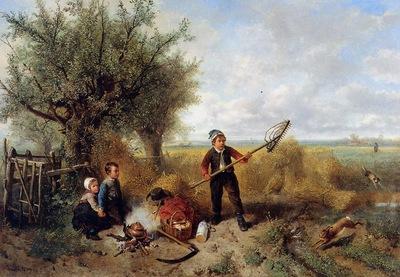 Kate ten Johan Mari Henri The disturbed picknick Sun
