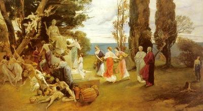 Kaulbach Friedrich August Von In Arcadia