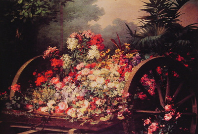 A cart of flowers